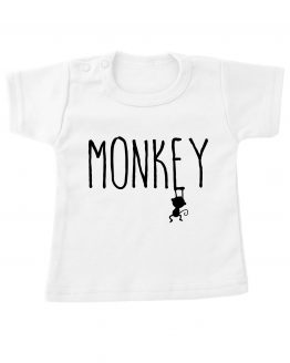 Tshirt_kort_Wit-monkey