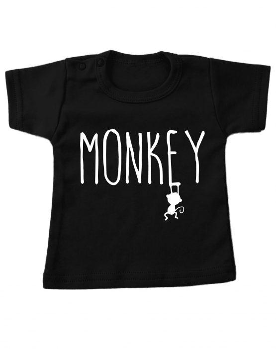 Tshirt_kort_Zwart-monkey